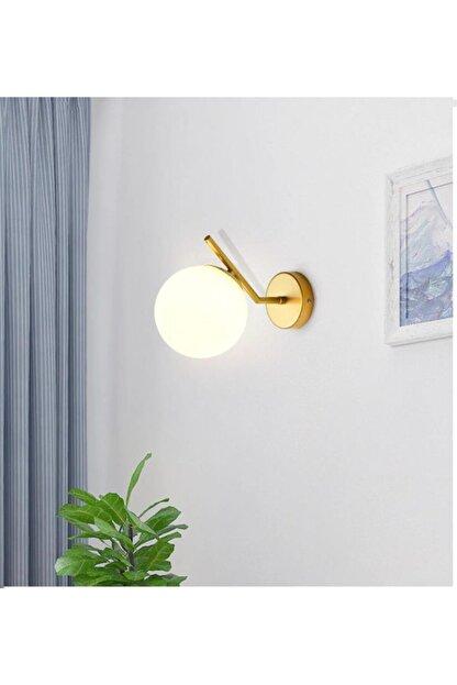 Sinem Avize Soho Modern Altın Renk Boyalı Duvar Lambası Aplik