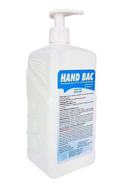 HAND BAC El Temizleme Solusyonu Alkol Bazlı 70° 1 Lt Pompalı