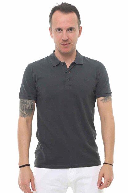 Cazador Erkek Gri Kısa Kolu Tshirt