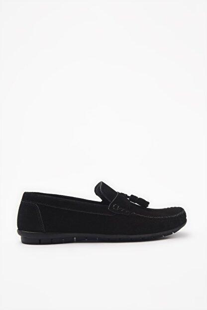 Hotiç Hakiki Deri Siyah Loafer Ayakkabı 02AYH206200A100