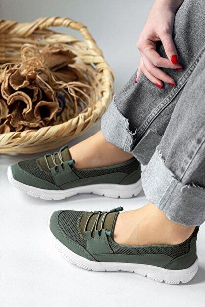 Fogs Kadın Haki Ortopedik Taban Günlük Ayakkabı