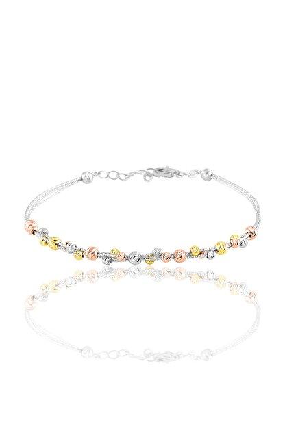Söğütlü Silver Kadın Beyaz Gümüş Dorica Toplu Bileklik