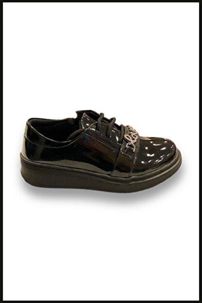 Vicco Love Fermuarlı Rugan Ayakkabı Siyah 969.v.513