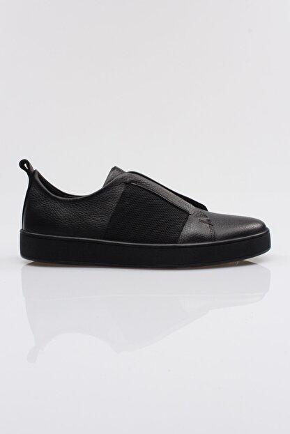 Alba Siyah Hakiki Deri Lastikli Erkek Ayakkabı
