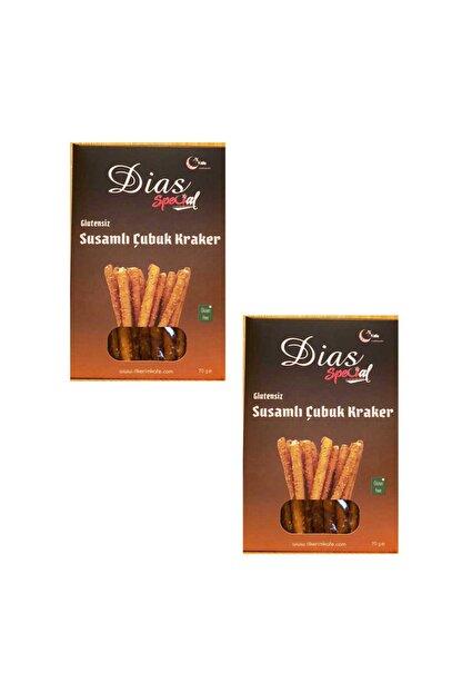 dias special Glutensiz Susamlı Çubuk Kraker 70 Gr*(2 Adet)