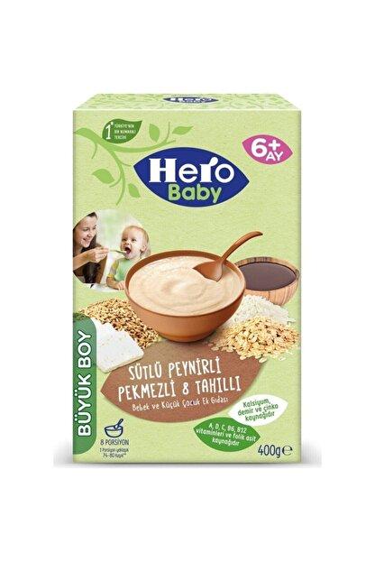 Hero Baby Kaşık Mama Sütlü Peynirli Pekmezli 8 Tahıllı 400 gr
