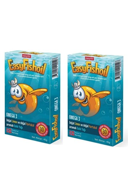 Easy Fishoil‎ Easy Fish Oil 30 Jel Tablet X 2 Adet