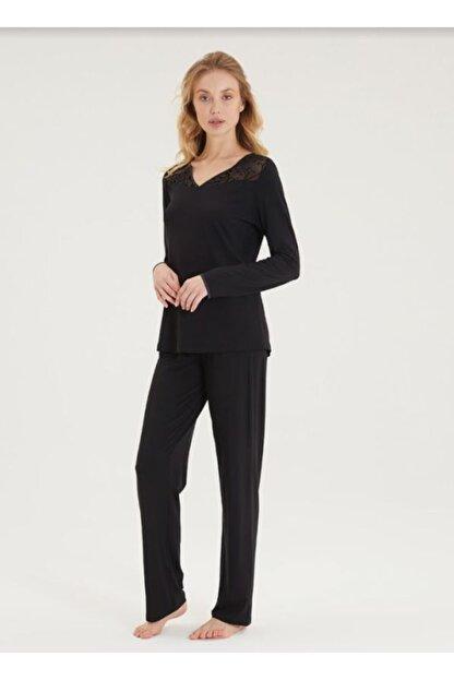 Blackspade Kadın Pijama Takımı 50299-siyah