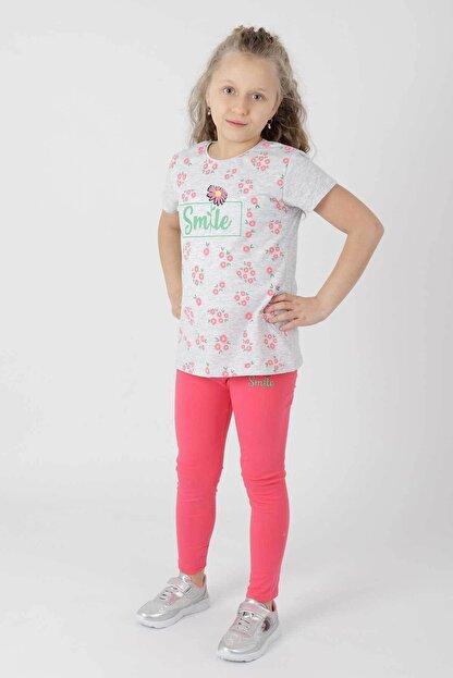 Ahenk Kids Ak621721108 Kız Çoçuk Smile Baskılı Taytlı Takım