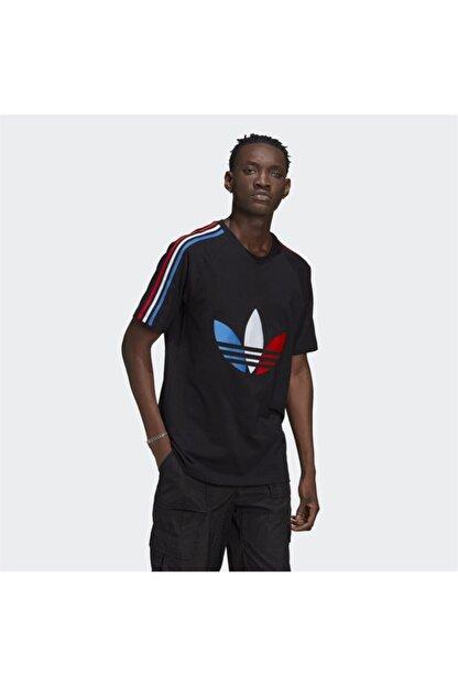 adidas Erkek Siyah Adicolor Tricolor Tişört