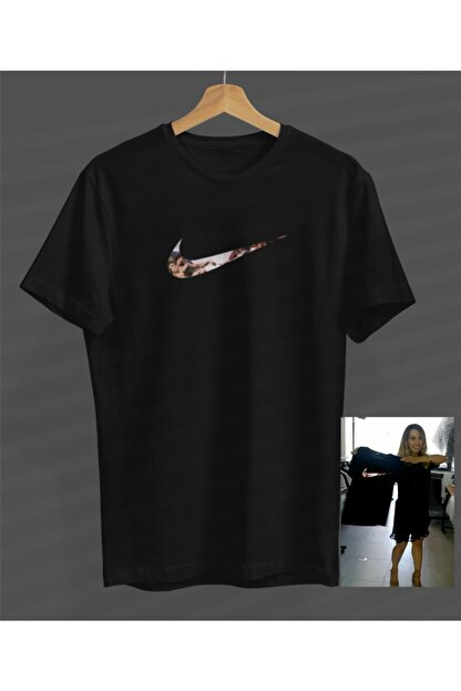 NVM Tekstil Özel Çalışma Baskı Siyah Yuvarlak Yaka T-shirt