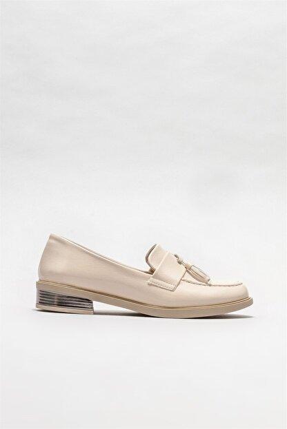 Elle Kadın Bej Loafer Ayakkabı