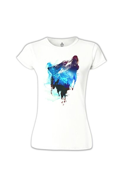 Lord T-Shirt Kurt 4 Beyaz Kadın T-shirt