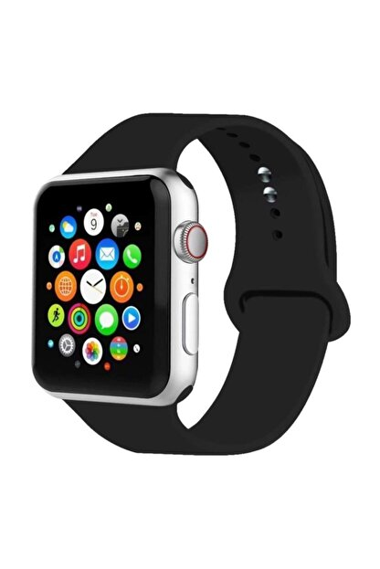 Cimricik Apple Watch Kordon 2 3 4 5 Seri 42 Mm Ve 44 Mm Silikon Kordon Kayış