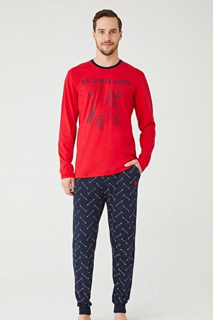 US Polo Assn U.s. Polo Assn. Erkek Yuvarlak Yaka Pijama Takımı 18333