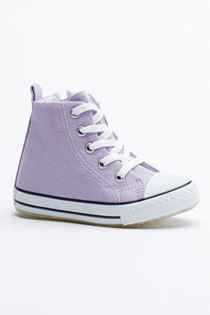 Tonny Black Lila Çocuk Spor Ayakkabı Uzun Tb999