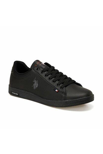US Polo Assn Franco Dhm Siyah Erkek Günlük Sneaker