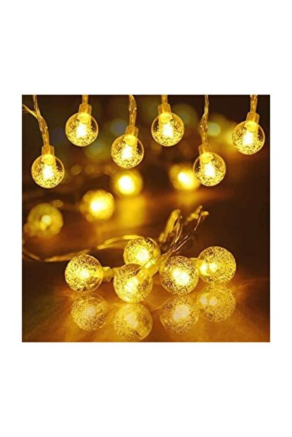 HediyeFilesi Kristal Top Süslü 2 Metre Led Işık Dekoratif