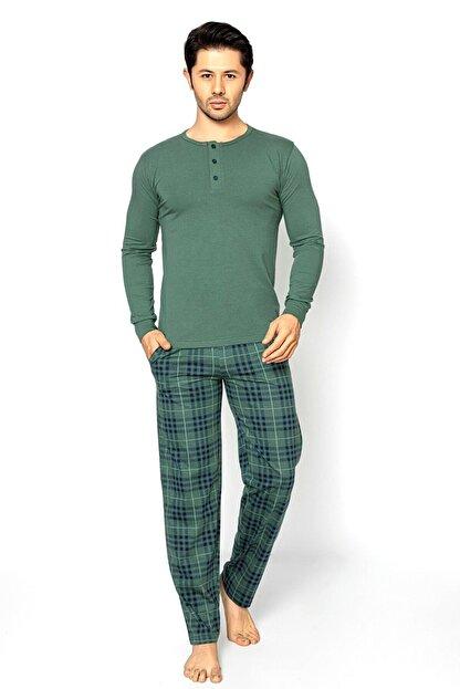 Aydoğan Erkek Haki Pijama Takımı