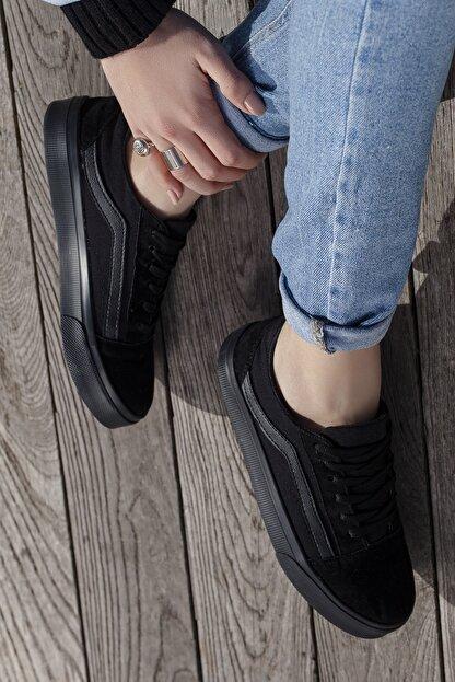 Daxtors Unisex Siyah Günlük Ortopedik Sneaker D044