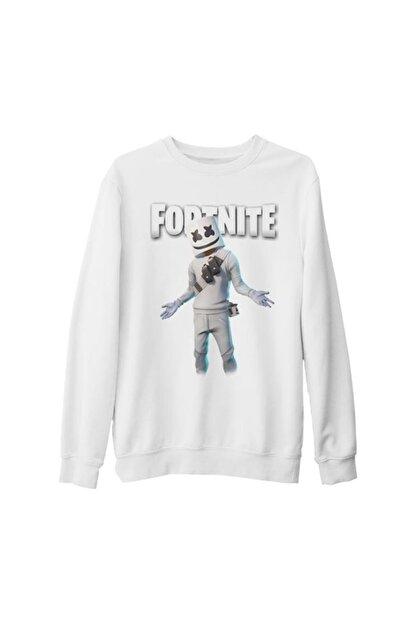 Lord T-Shirt Unisex Beyaz Fortnite Marshmello Iı Kalın Sweatshirt