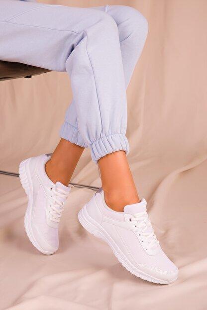 Soho Exclusive Kadın Beyaz Sneaker 15930