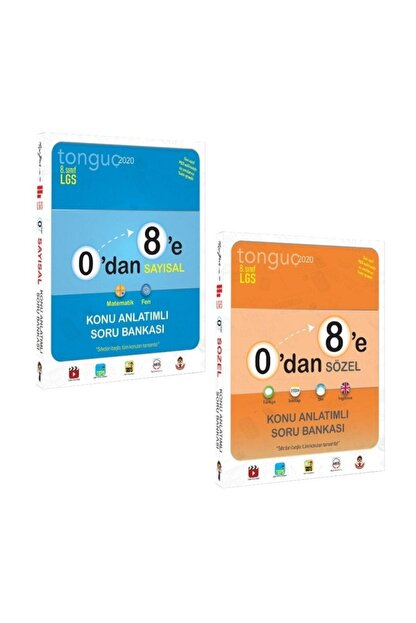 Tonguç Akademi 8. Sınıf Lgs 0 Dan 8 E Sayısal Ve Sözel Konu Anlatımlı Soru Bankası