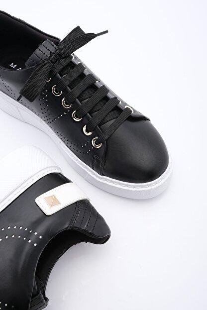 Marjin Kadın Siyah Sneaker Spor Ayakkabı Volares