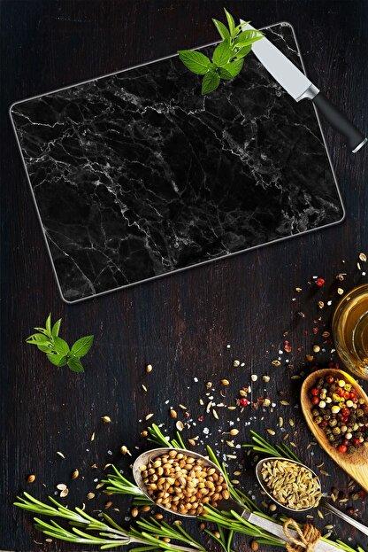 Saban Siyah Mermer | Cam Kesme Tahtası - Cam Kesme Tablası | 20 Cm X 30 Cm