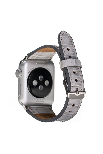 Barchello Apple Watch Deri Kordon 38-42-44mm Croco Yk03 Gri