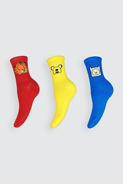Mugz Çizgi Film Karakterleri Çorap Seti 3'lü