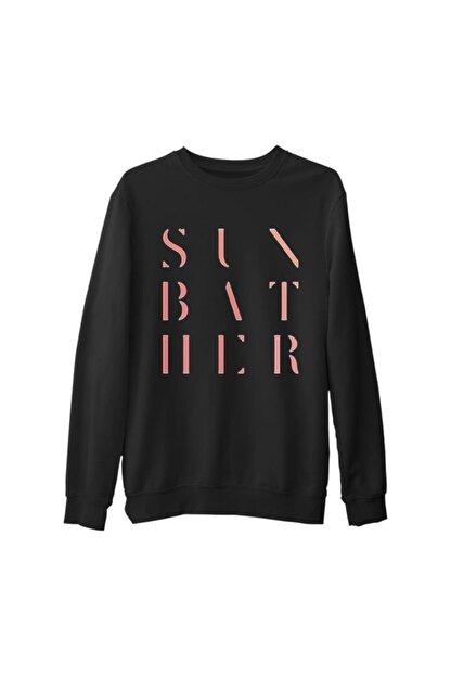 Lord T-Shirt Erkek Siyah Kalın Sweatshirt
