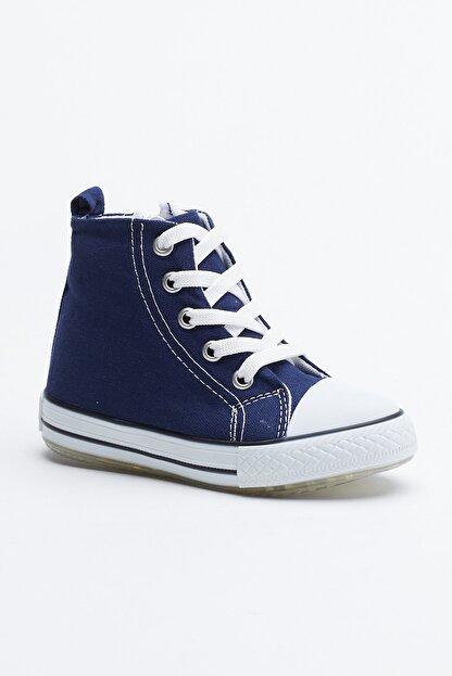Tonny Black Lacivert Çocuk Spor Ayakkabı Uzun Tb999