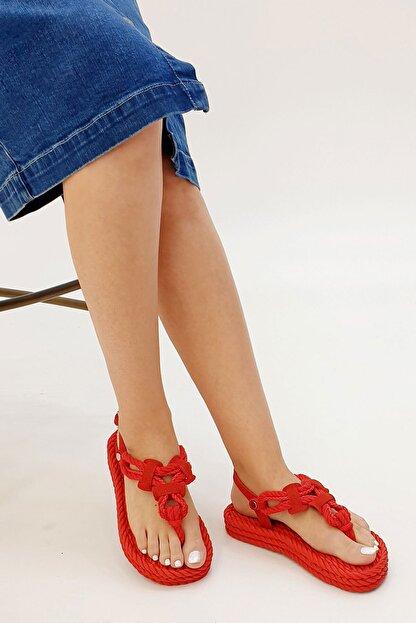 Marjin Casmina Kadın Parmak Arası Sandaletkırmızı