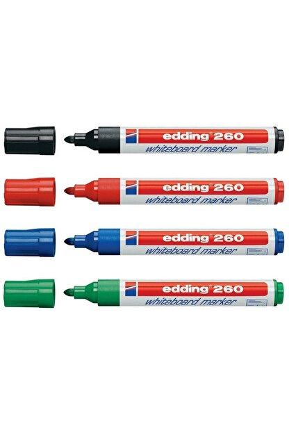 Edding 260 Beyaz Yazı Tahtası Kalemi 4'lü Set