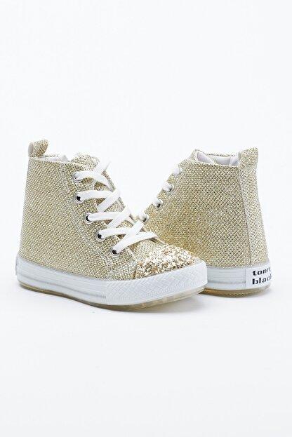 Tonny Black Altın Çocuk Spor Ayakkabı Uzun Tb999