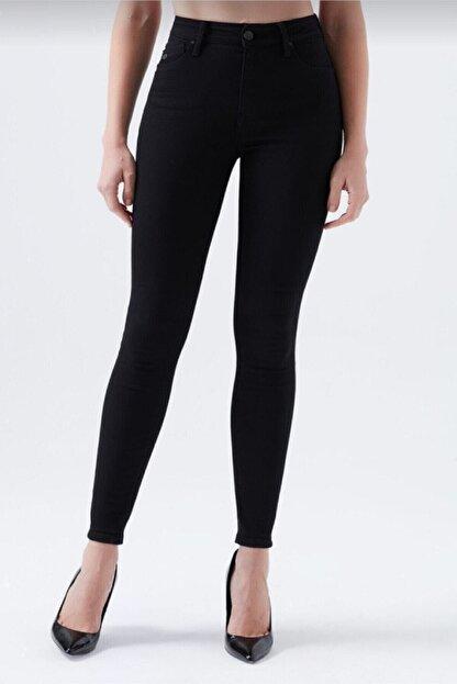 hacker Kadın Siyah Dar Paça Yüksek Bel Mükemmel Toparlayıcı Pantolon