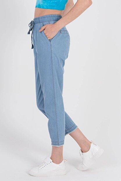 Addax Kadın Açık Kot Rengi Önden Bağlamalı Pantolon Pn4317 - Pnl ADX-0000022956