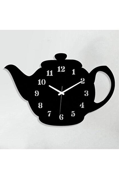 Regno Demlik Tasarımlı Dekoratif Ahşap Mutfak Duvar Saati Ds0016