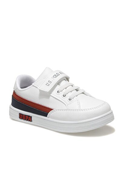 US Polo Assn JAMAL 1FX Beyaz Erkek Çocuk Sneaker Ayakkabı 100911024