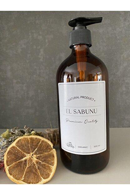 CASANATURA Amber Cam Şişe 500ml Beyaz Etiket El Sabunu
