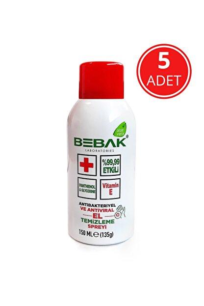 Bebak Dezenfektan El Temizleme Spreyi 150 Ml-5 Adet
