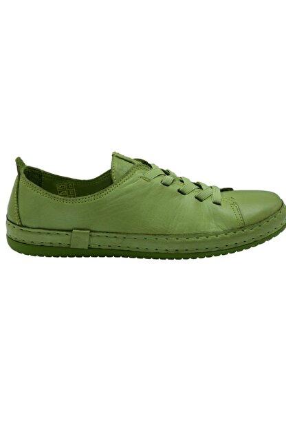 Freefoot Kadın Yeşil Deri Casual Ayakkabı 12906
