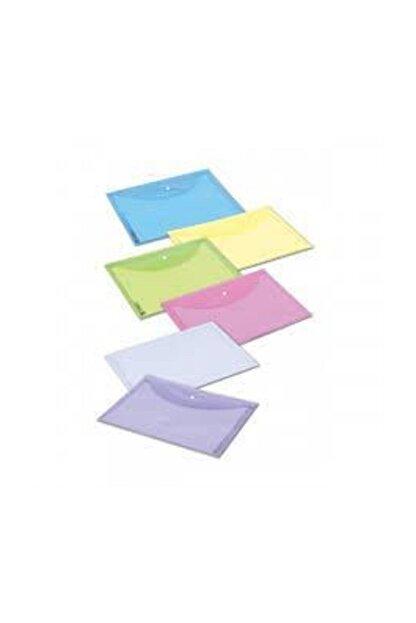Abka Çıtçıtlı Dosya Sarı A4 12'li (1 Paket 12 Adet)