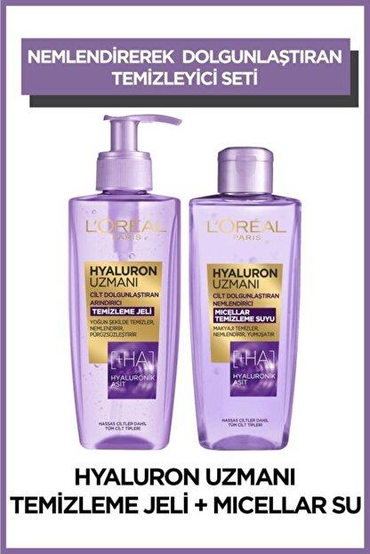 L'Oreal Paris Hyaluron Uzmanı Arındırıcı Temizleme Jeli + Micellar Temizleme Suyu 2'li Set
