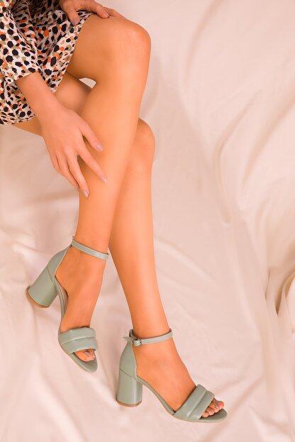Soho Exclusive Mınt Yeşil Kadın Klasik Topuklu Ayakkabı 15808