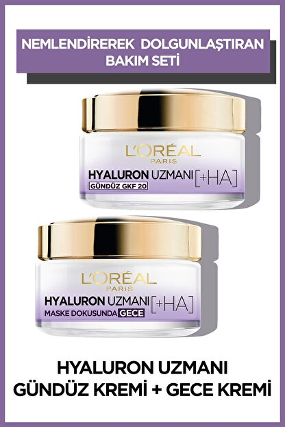 L'Oreal Paris Hyaluron Uzmanı Gündüz & Gece Kremi Hyaluron Set