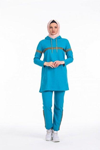 CNG MODA Kadın Sim Şeritli Eşofman Takımı