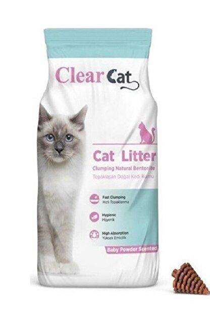Clear Cat Bentonit Kedi Kumu Bebek Pudrası Kokulu 5 lt