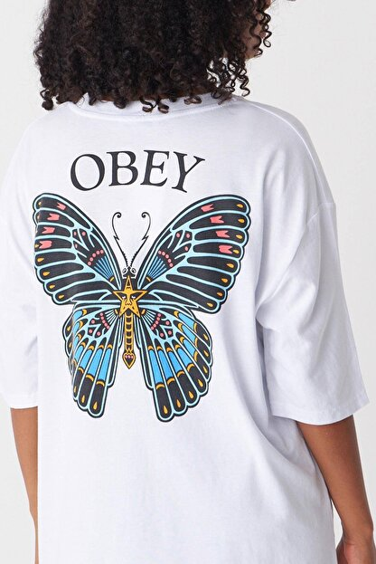 Addax Kadın Beyaz Baskılı T-Shirt P1029 - J1 Adx-0000022711